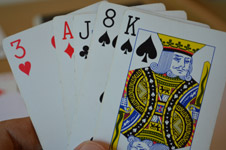Cards In Hand - Public Domain Pictures