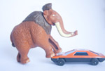 Mammoth Toy With Car - Public Domain Pictures