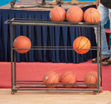 Basketballs Stand - Public Domain Pictures