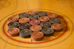 Carrom Coins Arranged - Public Domain Pictures