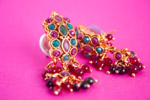 Earrings Colored Stones - Public Domain Pictures