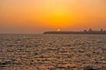 Sea Sunset Cityscape - Public Domain Pictures