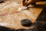 Hitting Carrom Striker - Public Domain Pictures