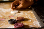 Playing Carrom Shot - Public Domain Pictures