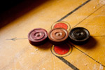 Three Carrom Coins - Public Domain Pictures