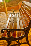 Bench In Garden - Public Domain Pictures