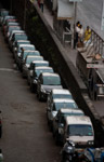 Vehicles In A Row - Public Domain Pictures