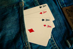 Ace Cards In Jeans - Public Domain Pictures