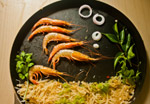 Prawns In Plate - Public Domain Pictures