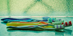 Toothbrushes In Row - Public Domain Pictures