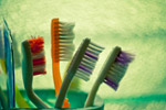 Toothbrushes In Stand - Public Domain Pictures