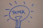 Think Bulb White Board - Public Domain Pictures