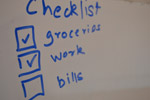 White Board Checklist Blue - Public Domain Pictures