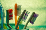 Colorful Toothbrushes - Public Domain Pictures