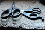 Scissors On Rock - Public Domain Pictures