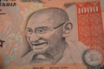 Gandhi Closeup Thousand Rupee Note - Public Domain Pictures