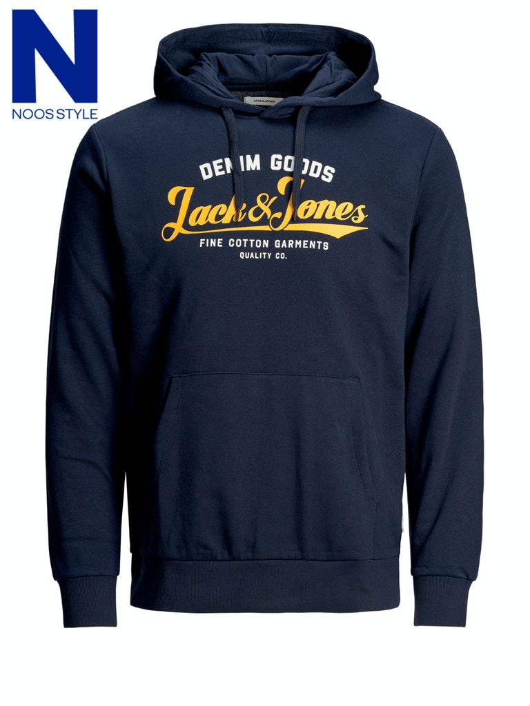 JJELOGO SWEAT HOOD 2 COL 20/21 NOOS JACK&JONES | Maglia | 12172349NAVY BLAZER