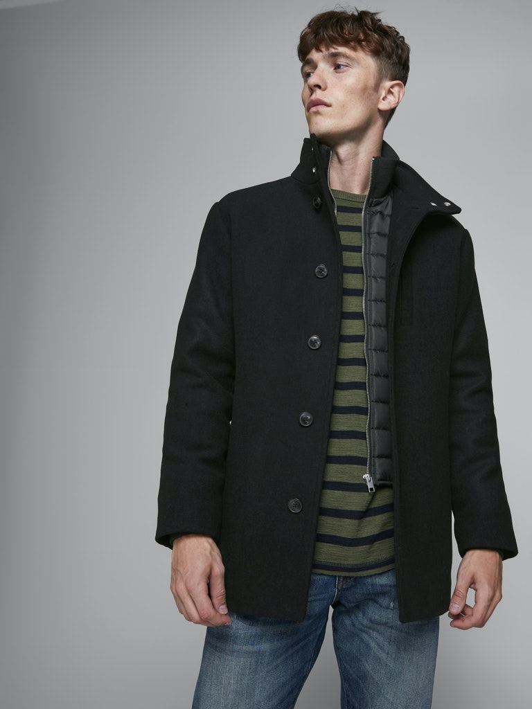 JJDUAL WOOL JACKET JACK&JONES | Giubbotto | 12173706BLACK