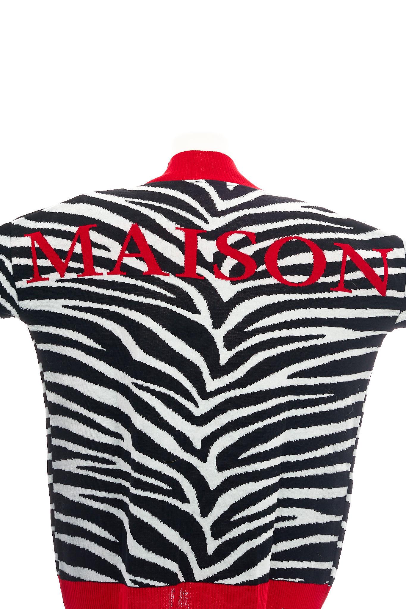 Cardigan MAISON 9 PARIS | Maglia | L440NERO/BIANCO