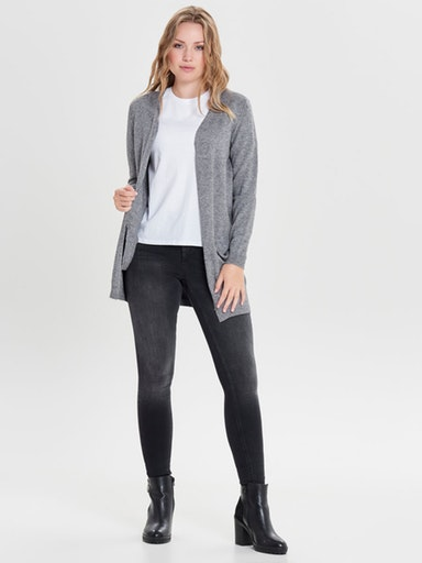 ONLQUEEN L/S LONG CARDIGAN KNT NOOS ONLY | Cardigan | 15158746MEDIUM GREY MELANGE