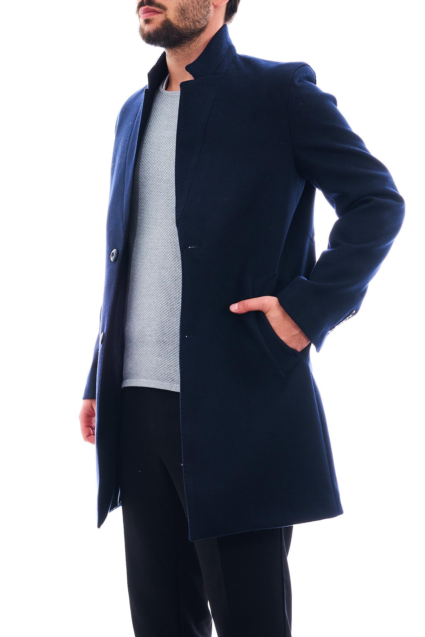 Cappotto in eco-lana SETTE/MEZZO   Cappotto   CP738-VITESSBLU