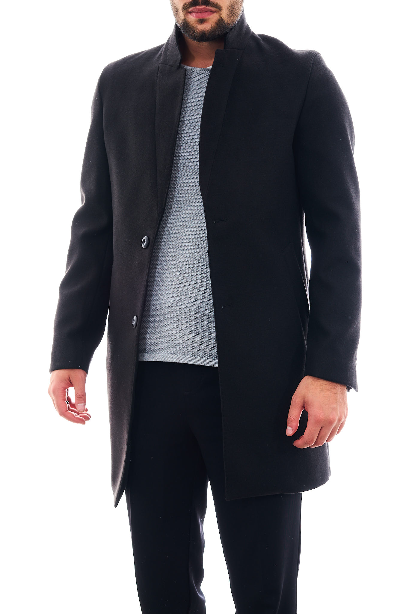 Cappotto in eco-lana SETTE/MEZZO | Cappotto | CP738-VITESSNERO