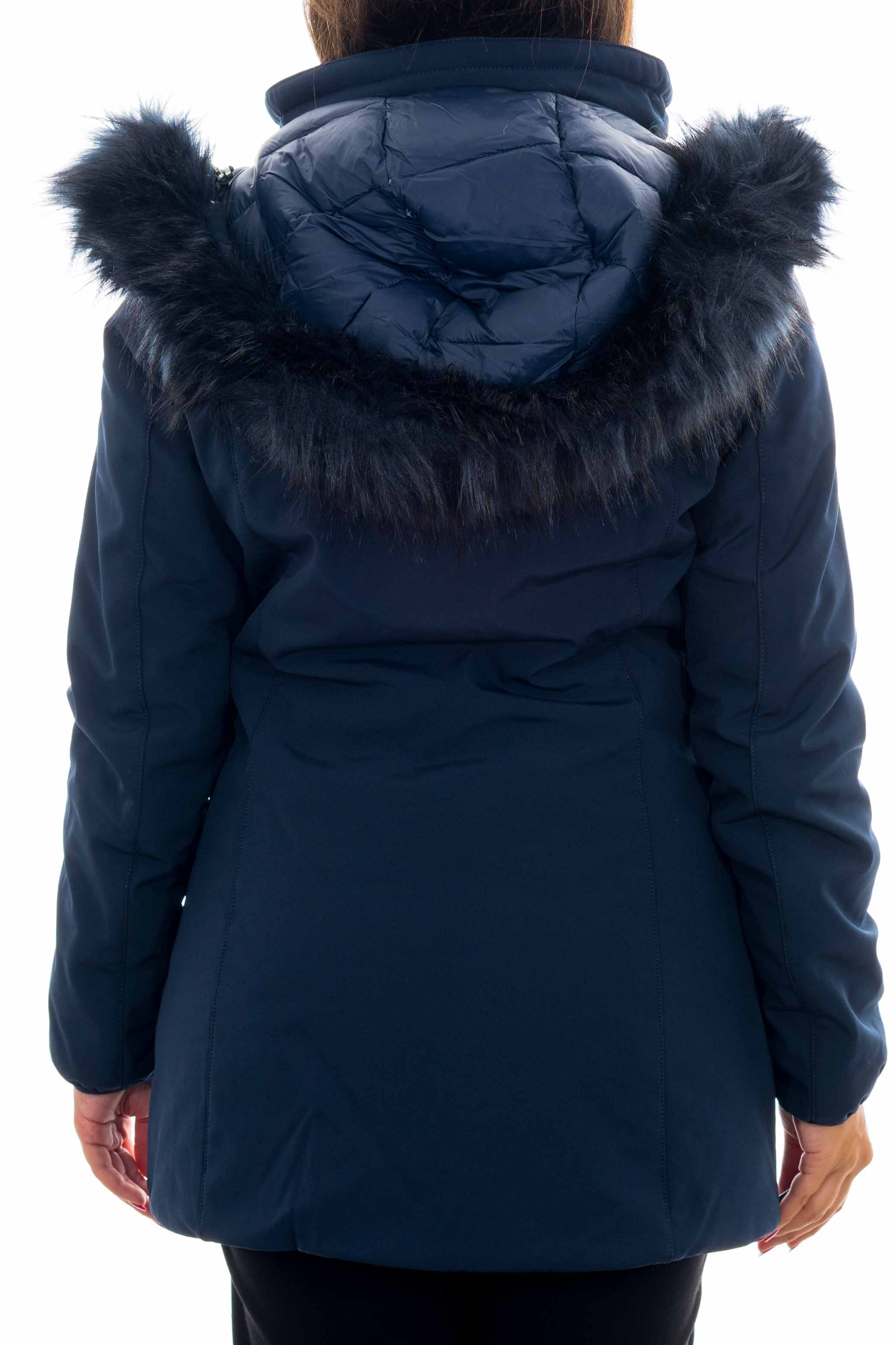 Cappotto lungo con pelliccia YES-ZEE | Cappotto | O001-N4000713