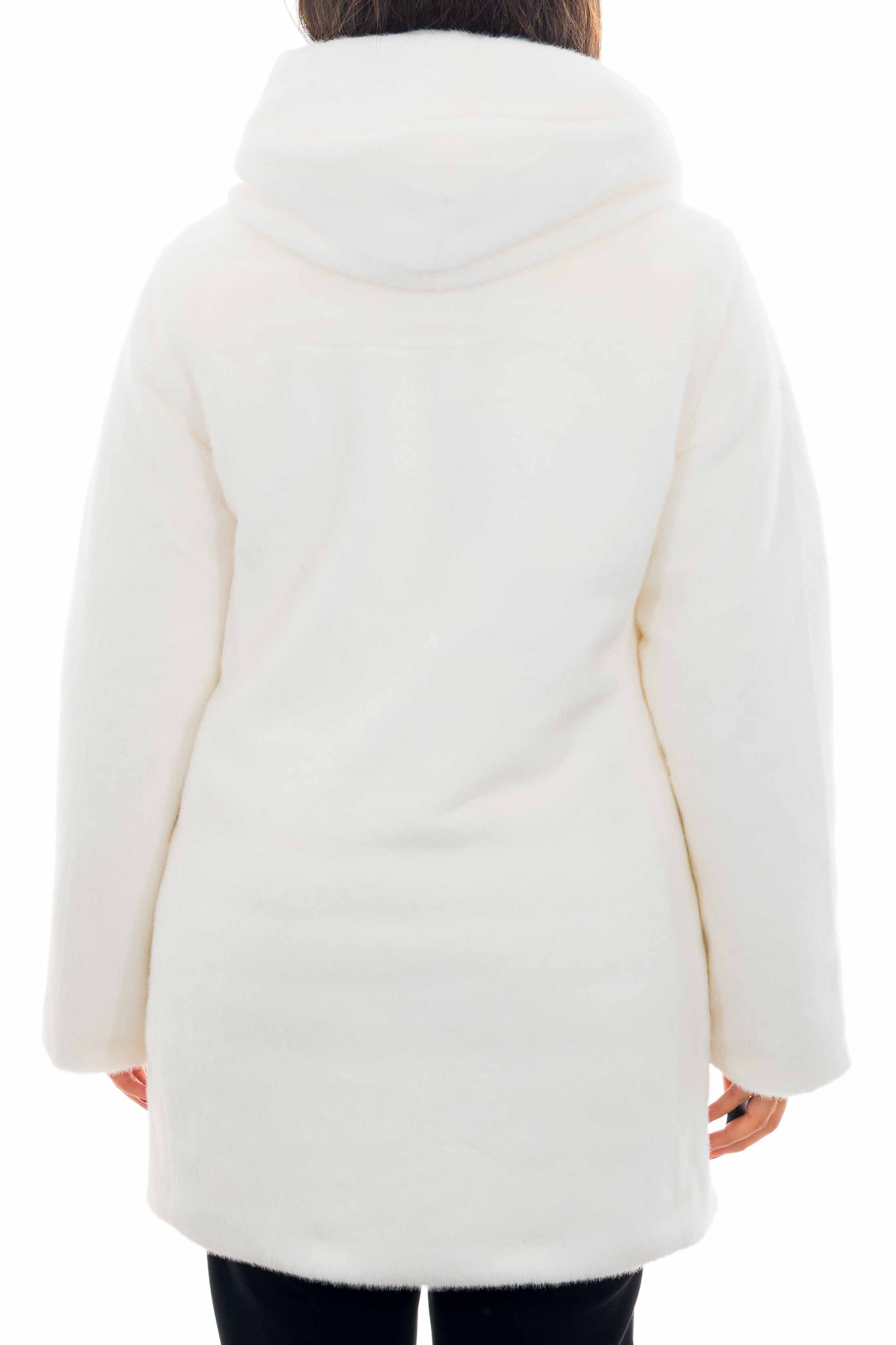 Cappotto lungo in pelliccia YES-ZEE | Cappotto | O040-HG000101