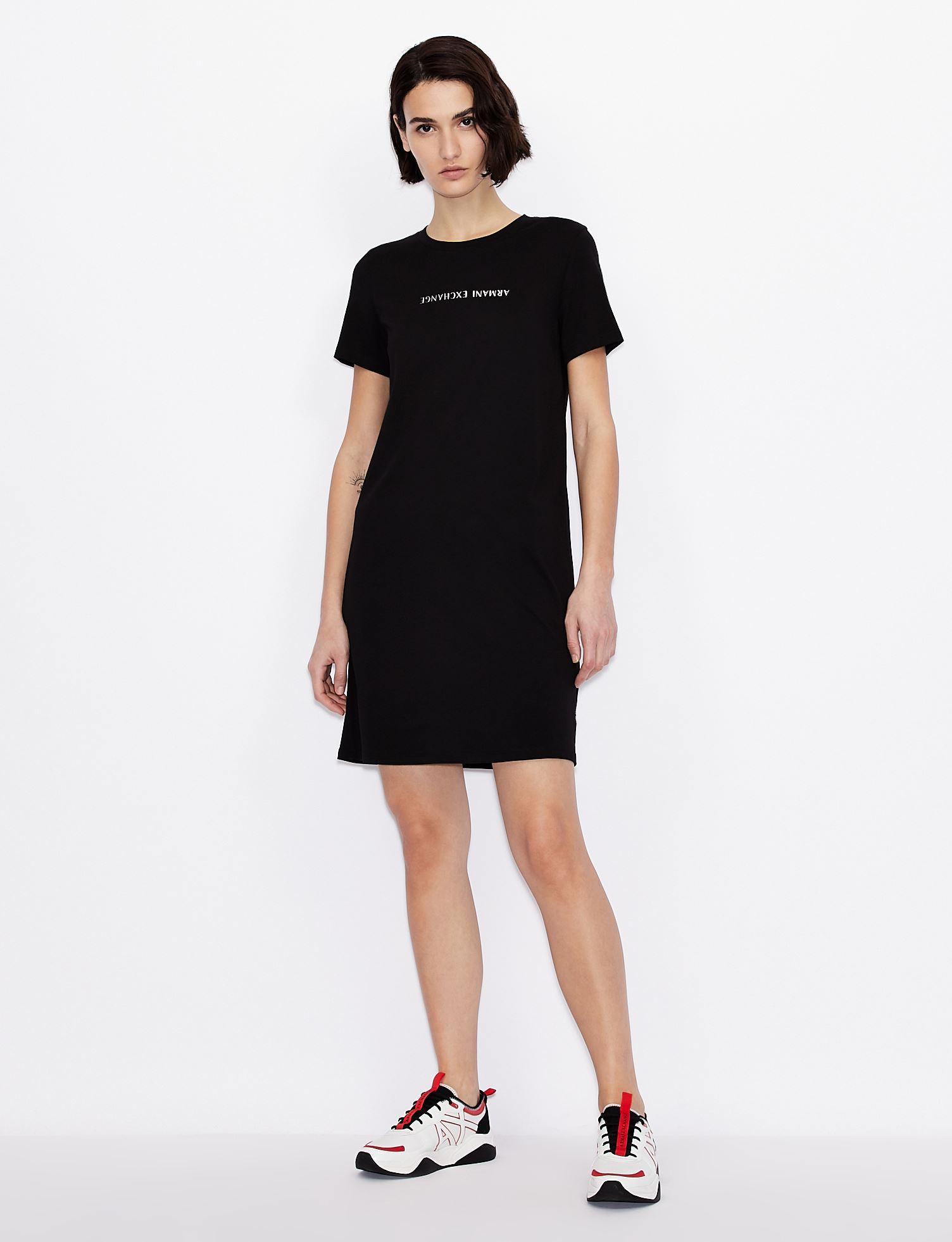 T-dress con scritta logo Armani Exchange ARMANI EXCHANGE | Abito | 3KYA96-YJG3Z1200