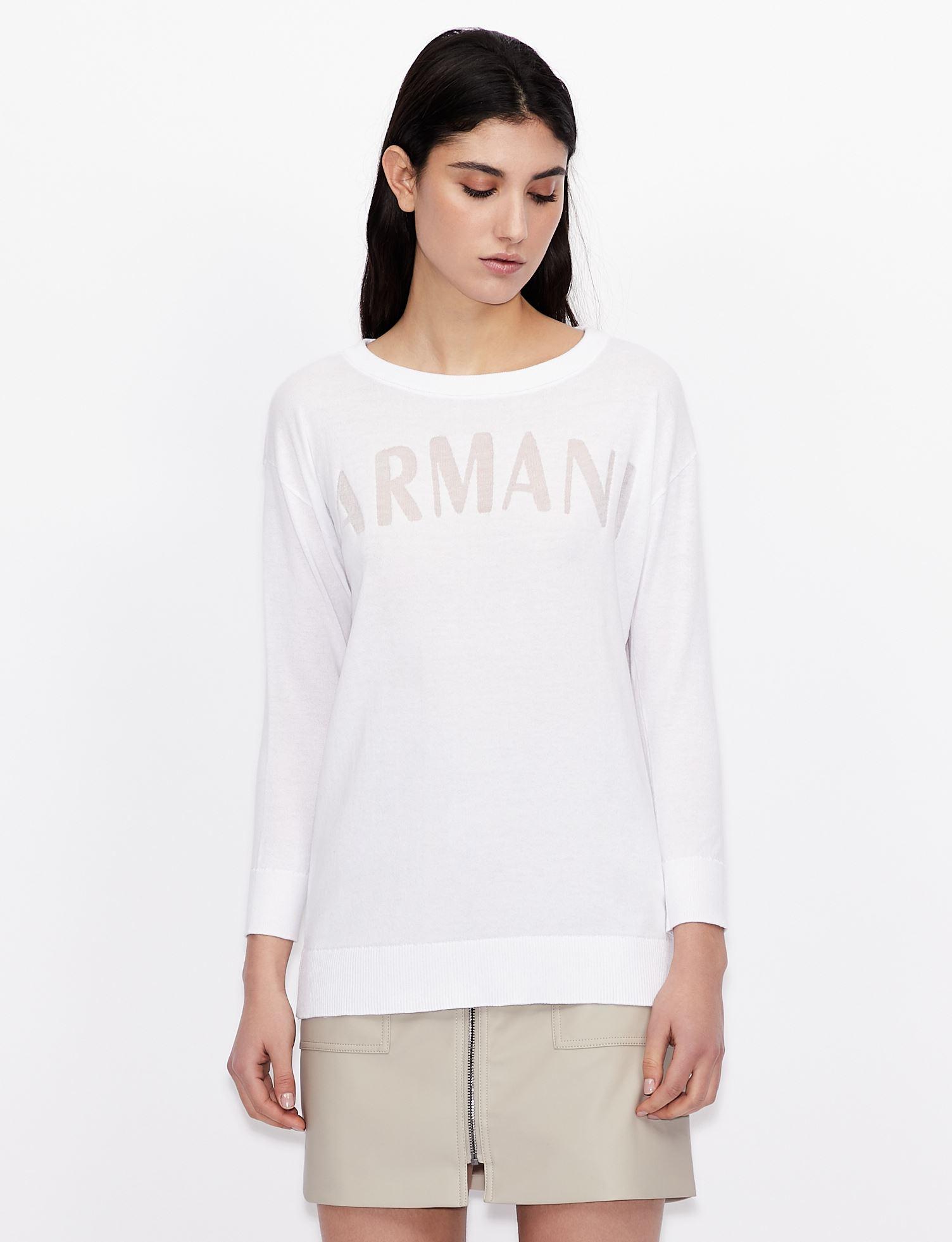 Maglione con scritta logo Armani Exchange ARMANI EXCHANGE | Maglia | 3KYM1Q-YMQ2Z1100