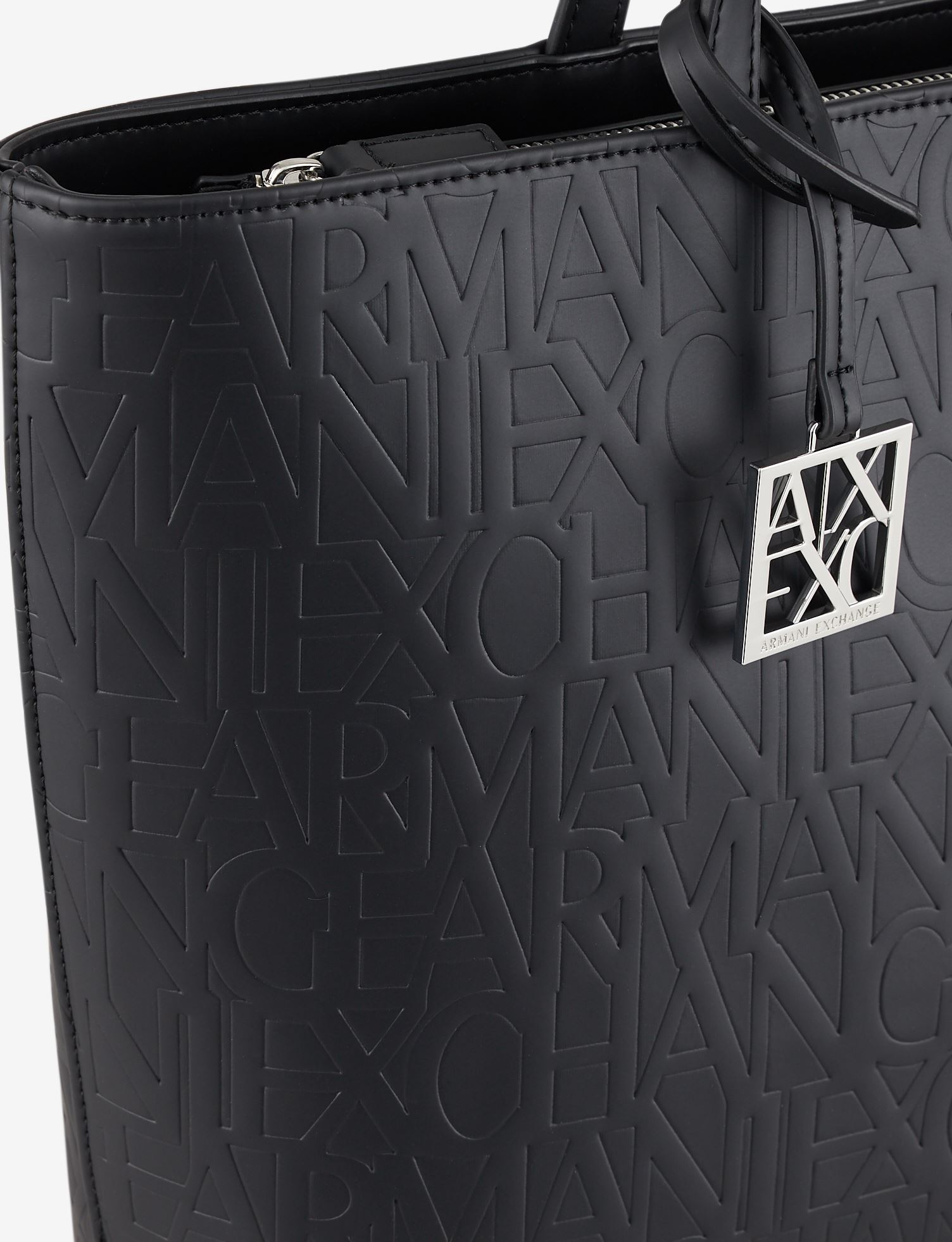 Shopper con logo allover ARMANI EXCHANGE | Borsa | 942650-CC79300020
