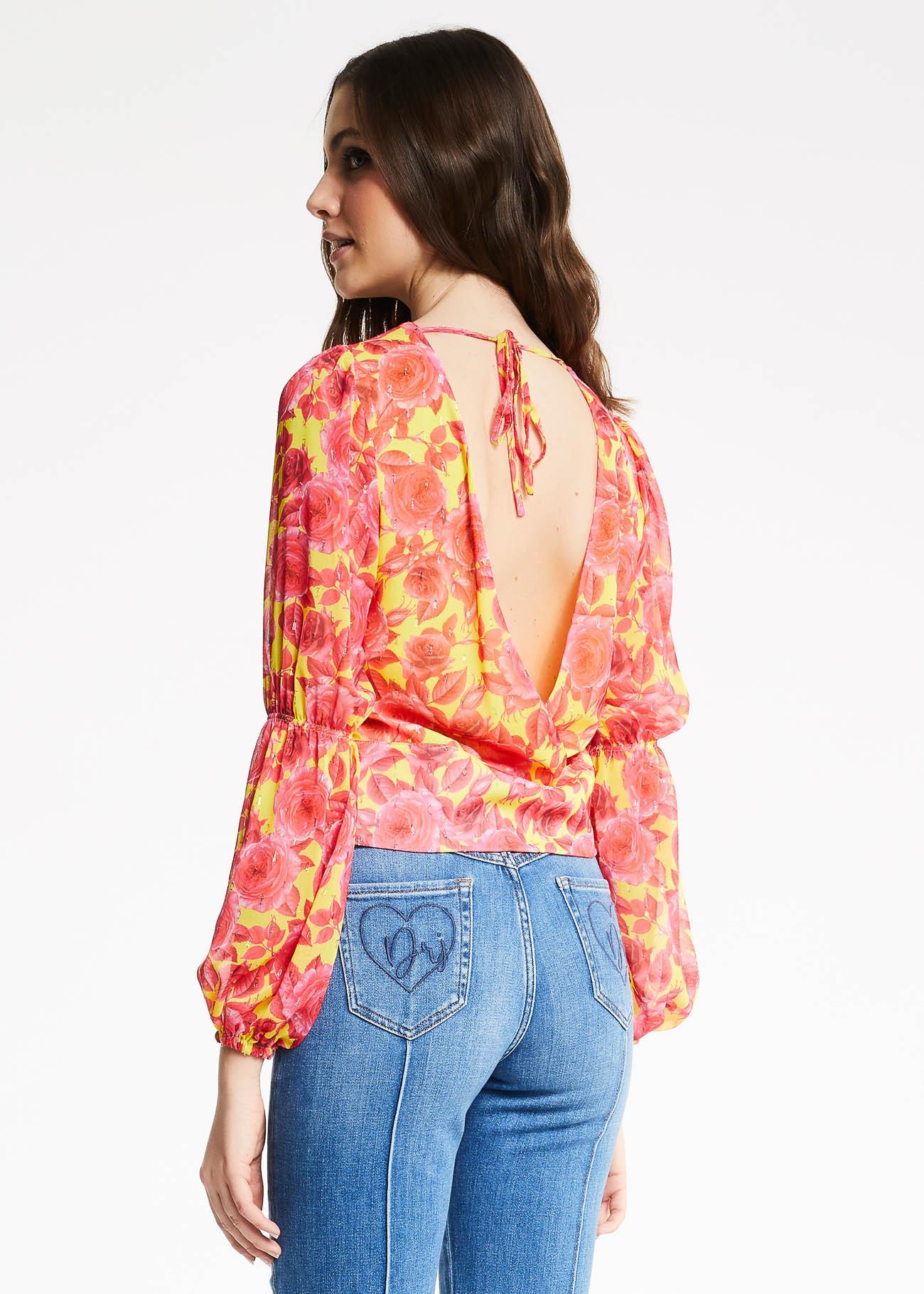 Blusa in creponne Denny Rose DENNY ROSE   Maglia   ND45004118922-01