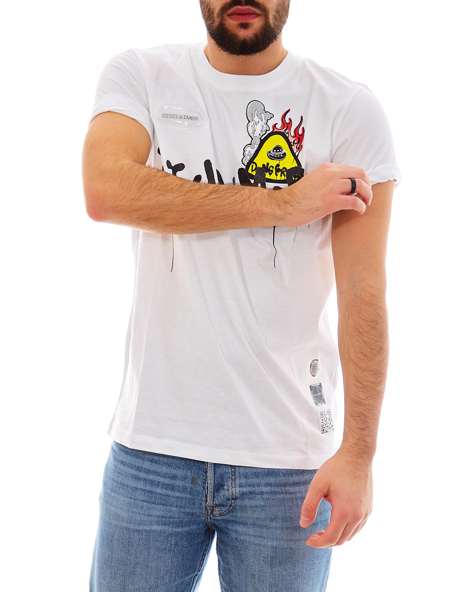 T-shirt DISCLAIMER   Maglia   EDS50609BIANCO