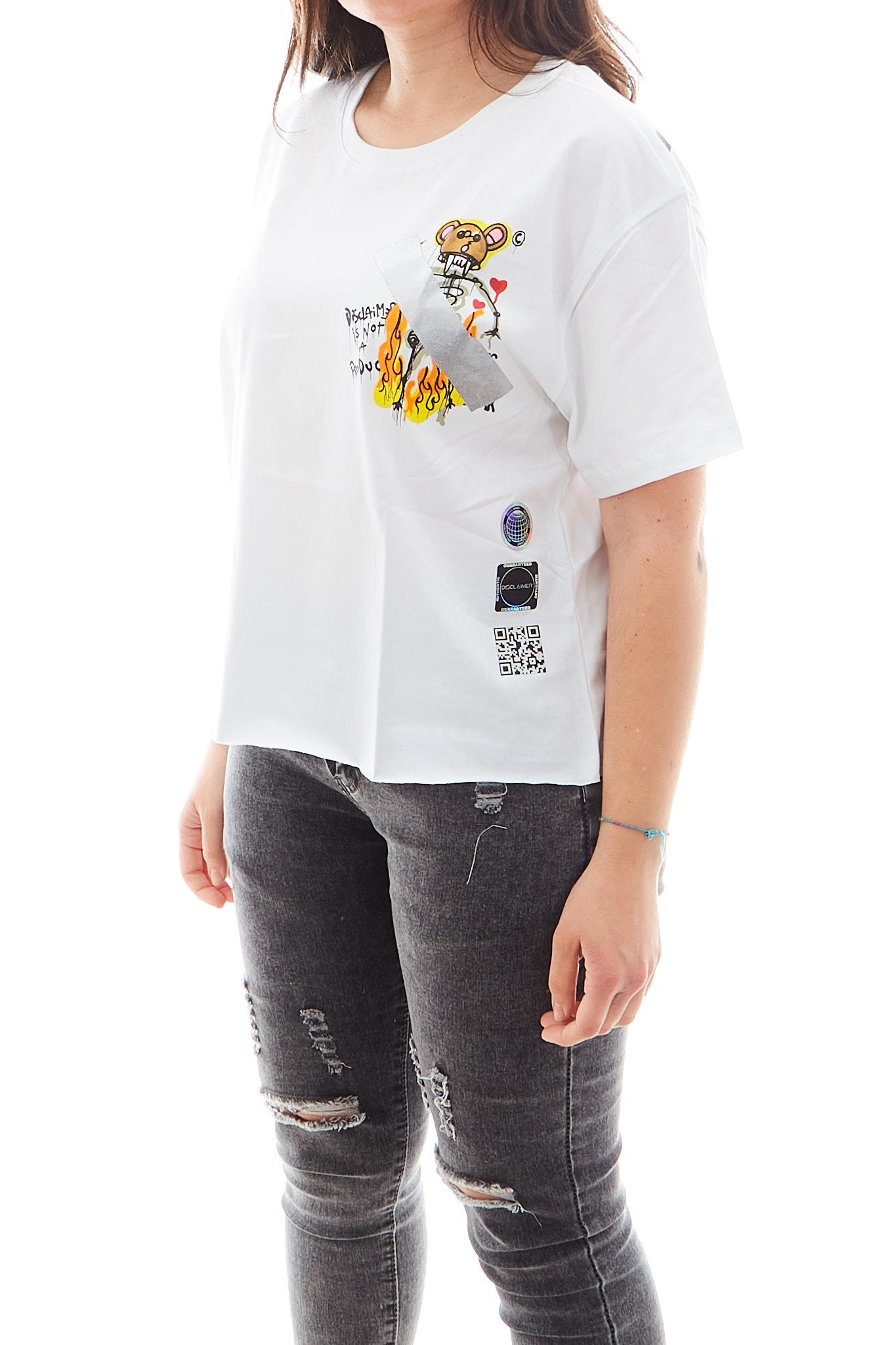 T-shirt Disclaimer DISCLAIMER   Maglia   EDS50649BIANCO