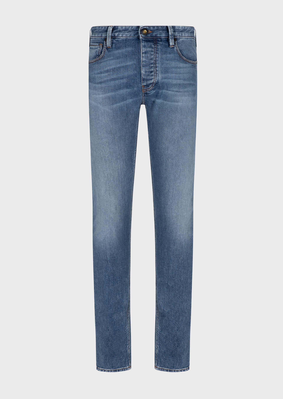 Jeans J75 slim fit in denim used mid blue wash Emporio Armani EMPORIO ARMANI   Pantalone   3K1J75-1DX1Z0942