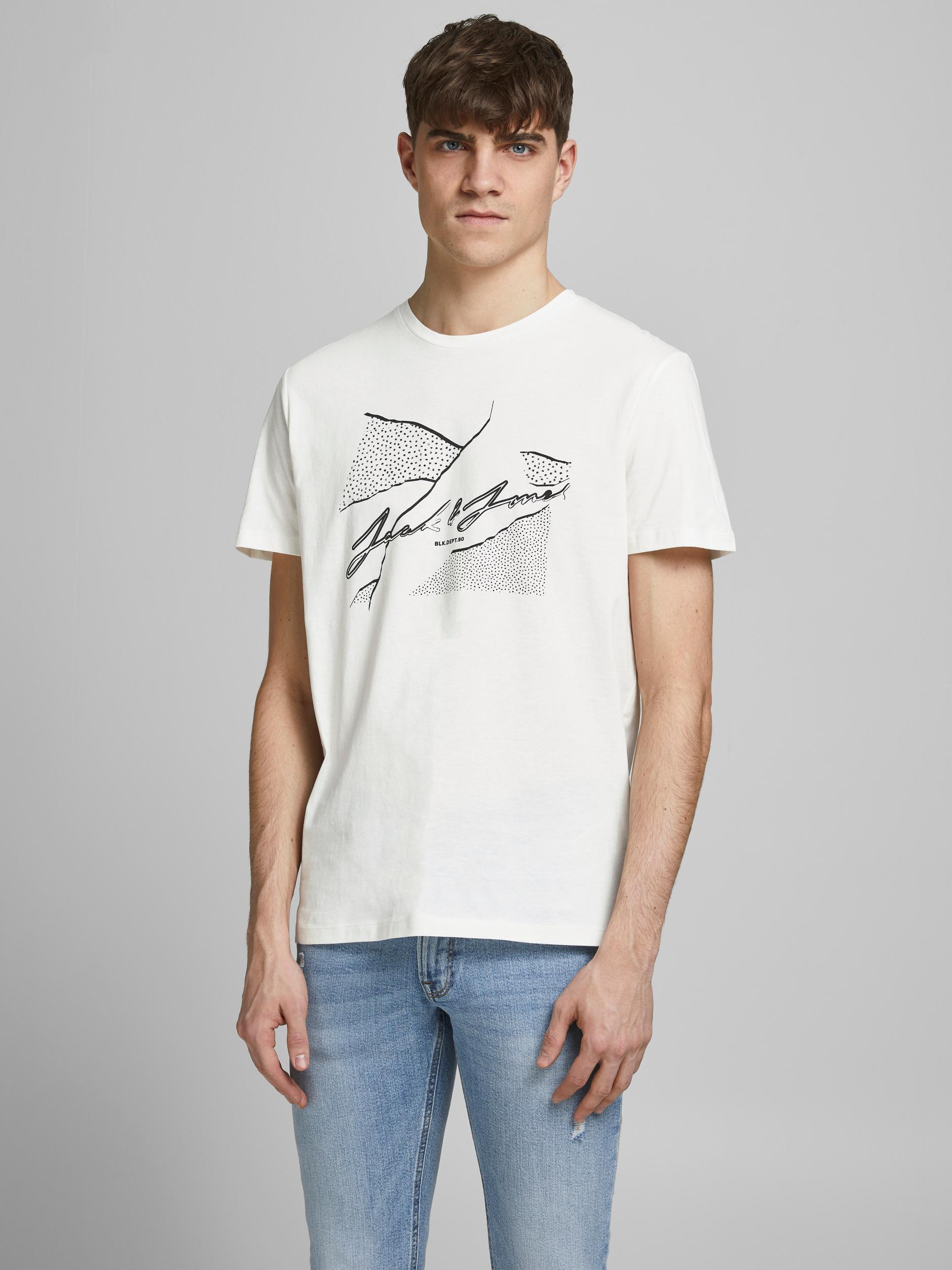 Jorron tee Jack and Jones JACK&JONES | T-shirt | 12185179CLOUD DANCER