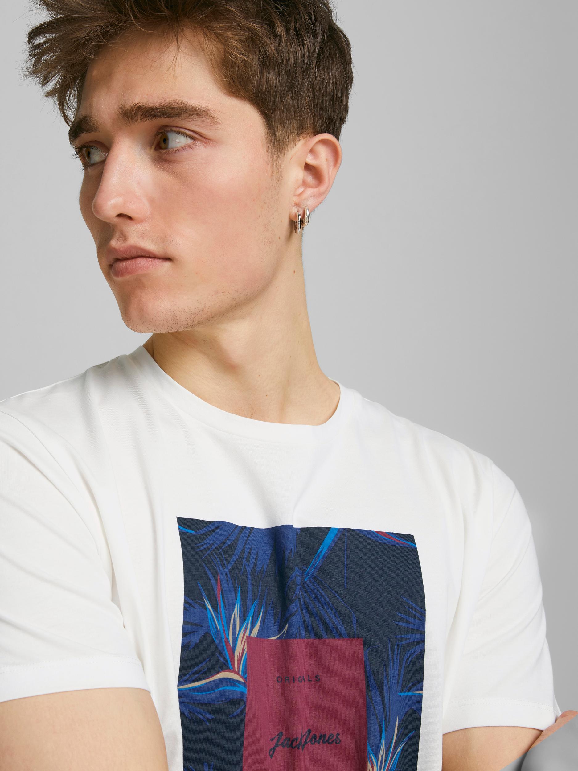 Jorflorall Print T-shirt JACK&JONES   T-shirt   12186330CLOUD DANCER