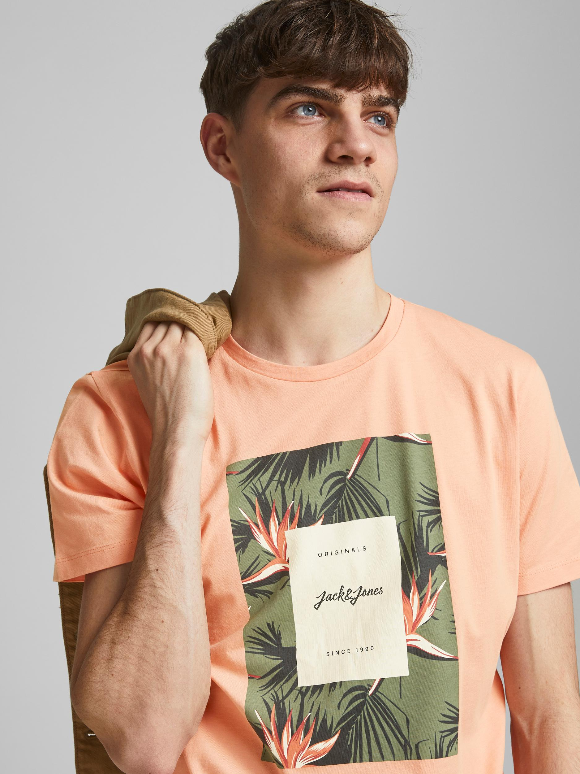 Jack&Jones Jorflorall Print T-shirt JACK&JONES | T-shirt | 12186330SHELL CORAL