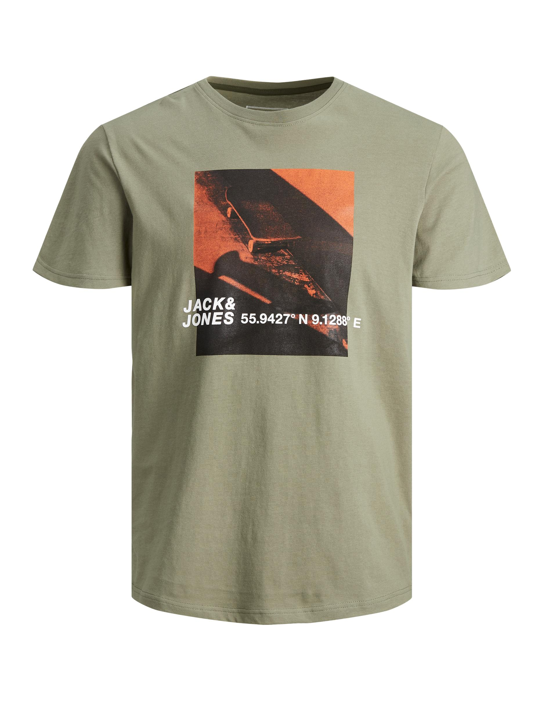 Cojump Tee Crew neck plus JACK&JONES   T-shirt   12186571DEEP LICHEN GREEN