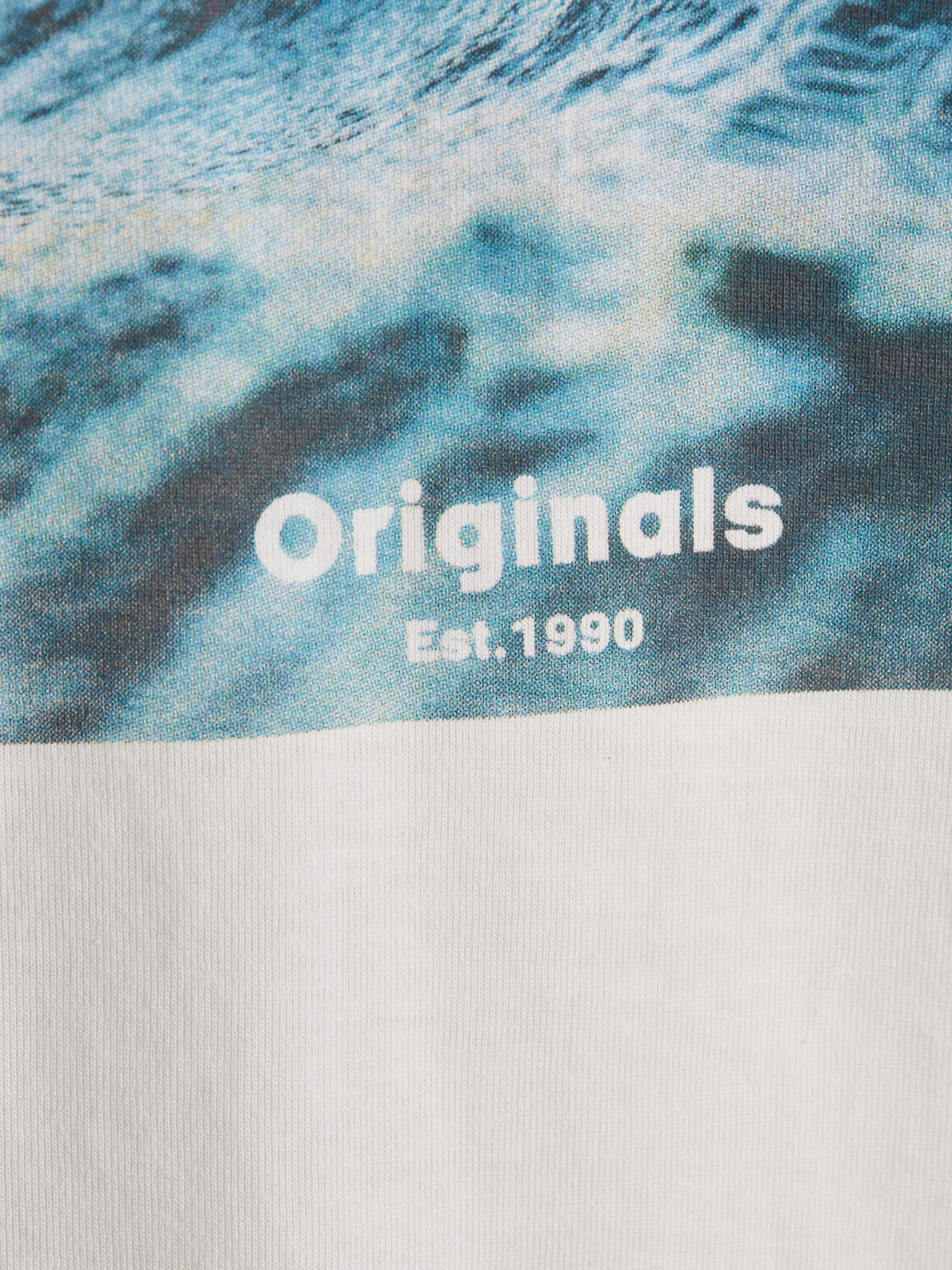 JORAZURE TEE SS CREW NECK JACK&JONES   T-shirt   12189032CLOUD DANCER