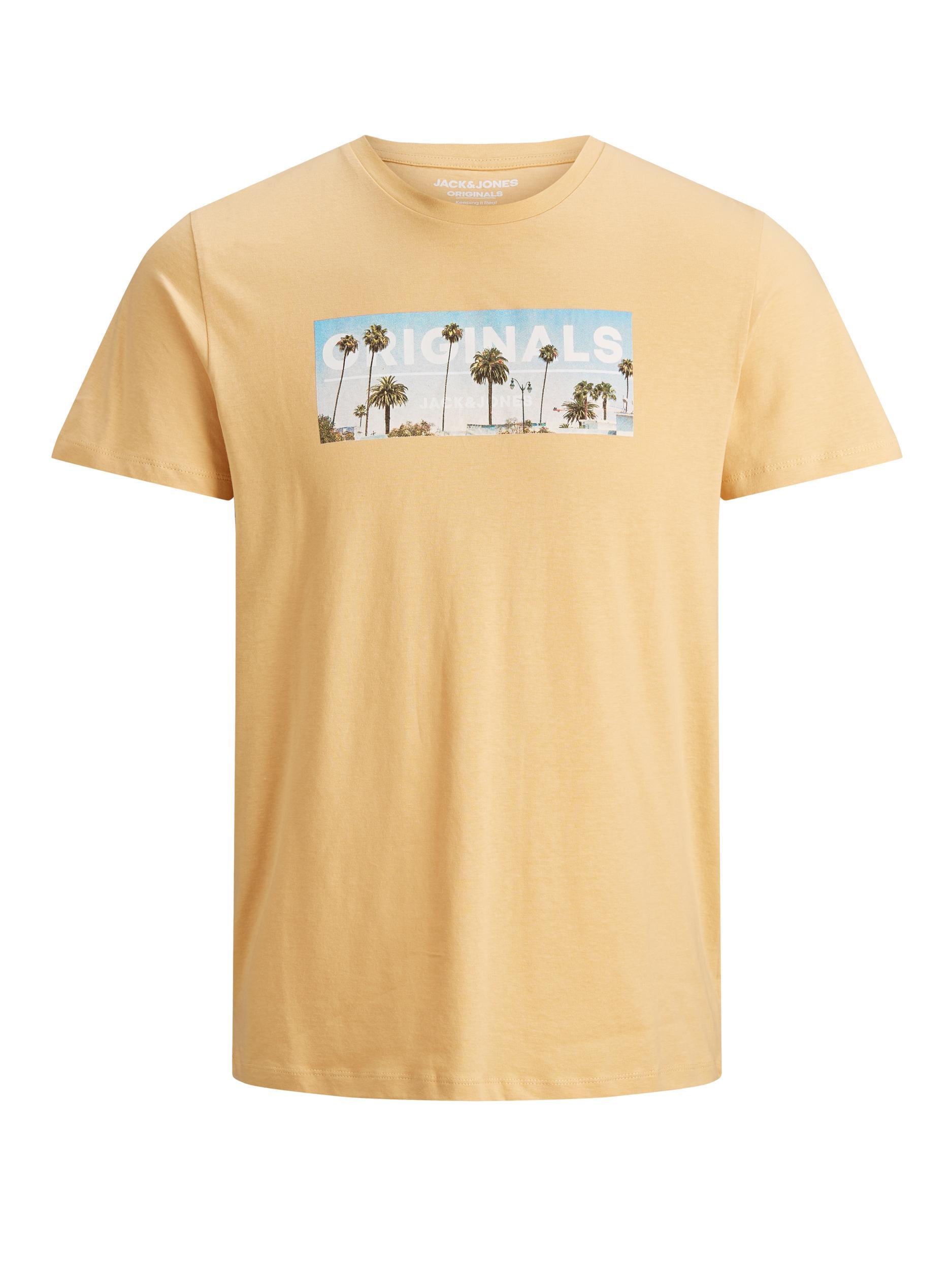 JORAZURE TEE SS CREW NECK JACK&JONES | T-shirt | 12189032SAHARA SUN