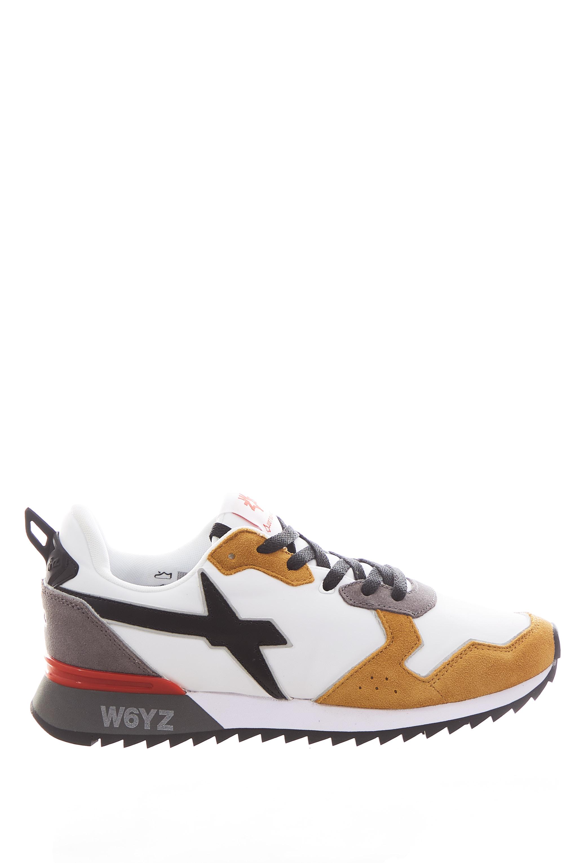 Sneaker in tessuto e pelle W6yz JUST SAY WIZZ   Scarpe   JET-MWHITE/BLACK/ZUCCA