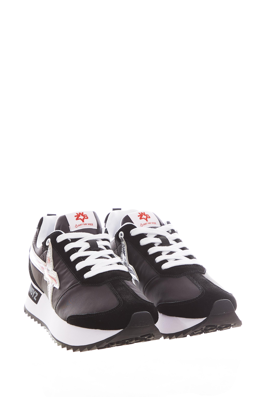 Sneaker in tessuto e pelle W6yz  JUST SAY WIZZ | Scarpe | KIS-W.BLACK/SILVER