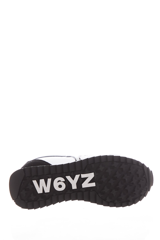 Sneaker in tessuto e pelle W6yz JUST SAY WIZZ   Scarpe   KIS-W.WHITE/SILVER
