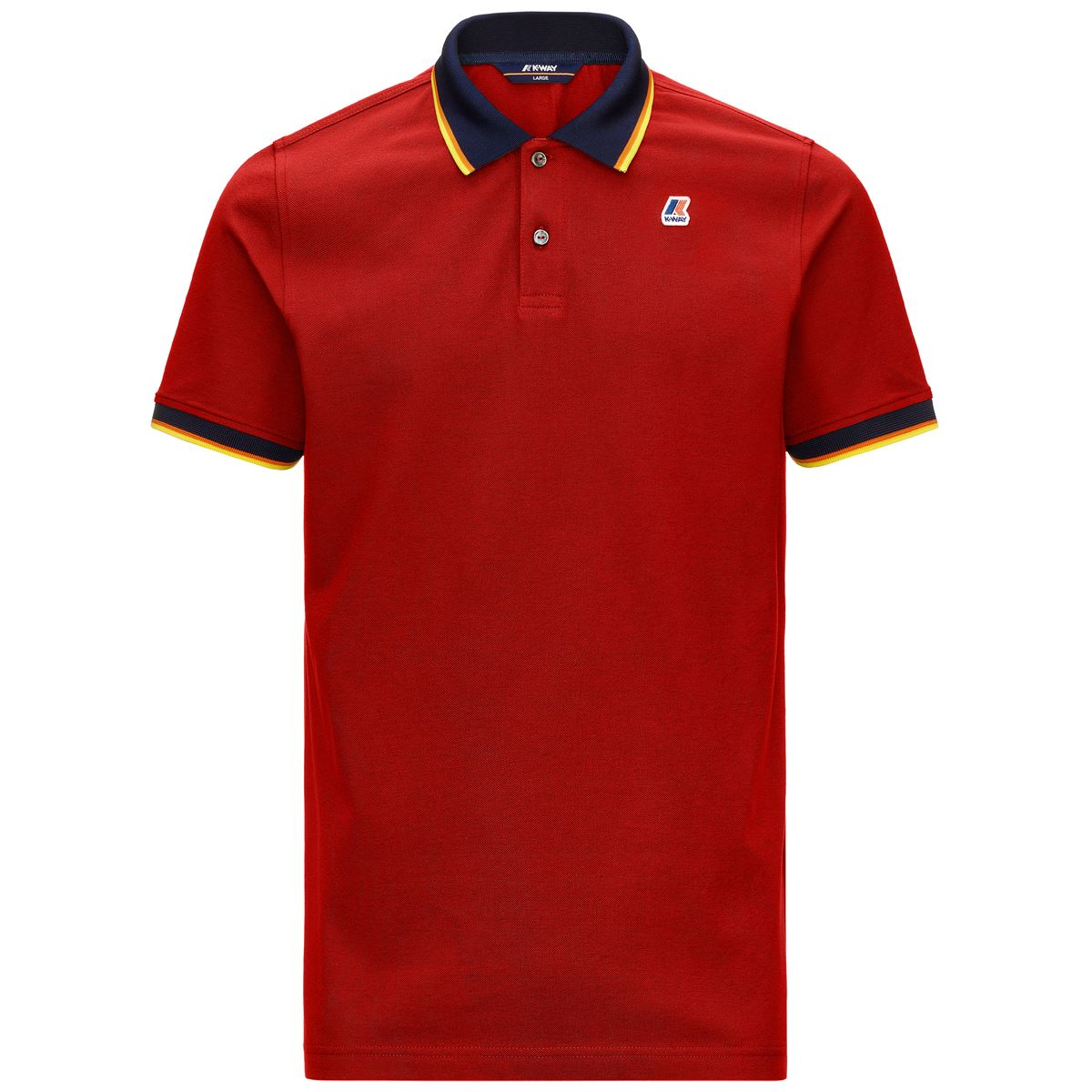 Polo Vincent total contrast stretch K-way K-WAY | Polo | K111NXW-VINCENTQ03