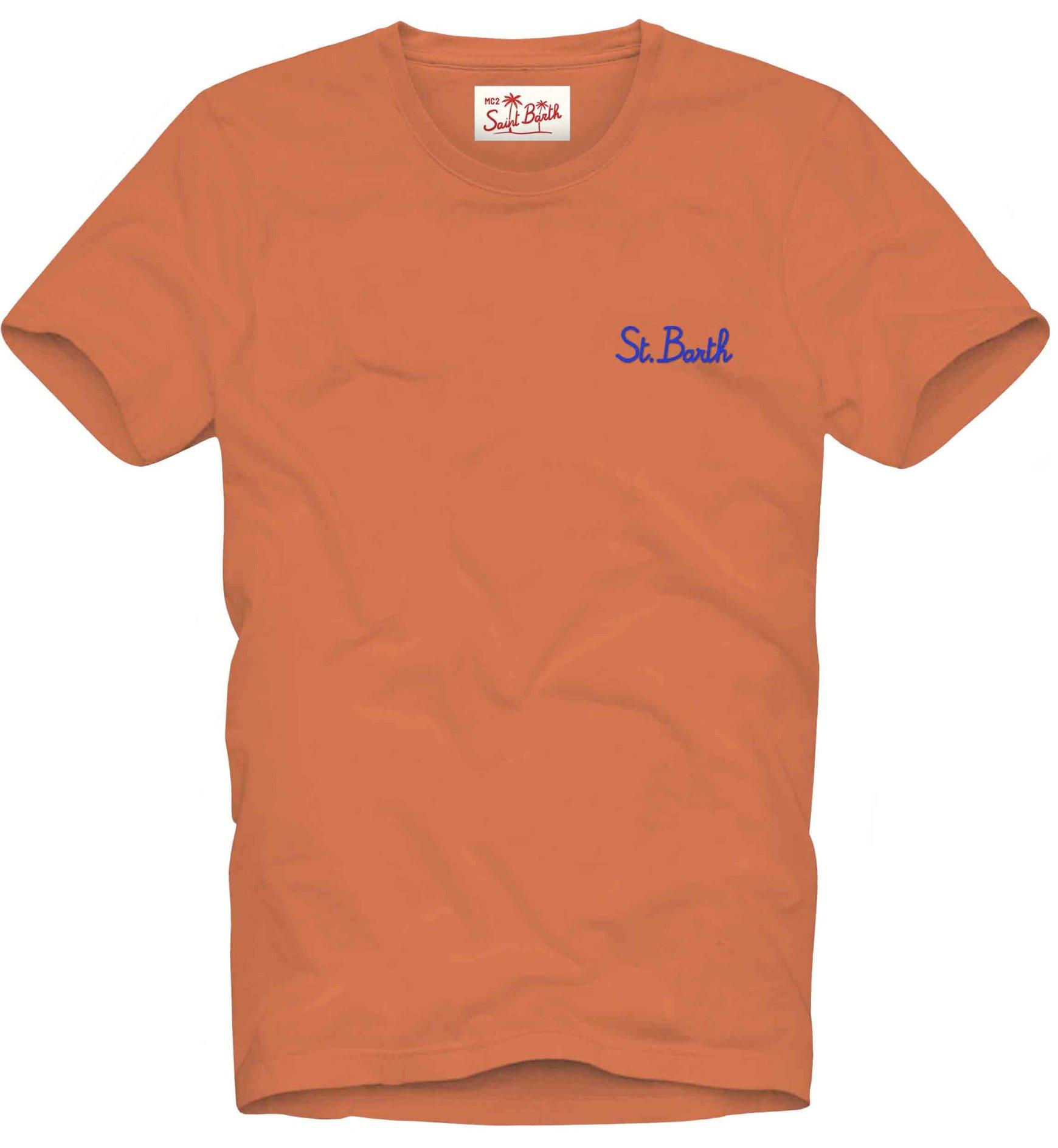 T-shirt MC2 Saint Barth con scritta ricamata MC2 SAINT BARTH   T-shirt   DOVERSB8117