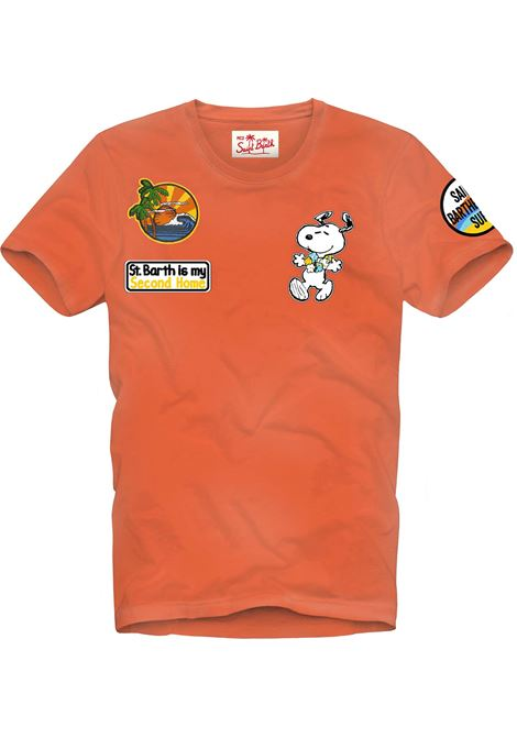 T-shirt MC2 Saint Barth con scritta ricamata MC2 SAINT BARTH | T-shirt | JACKPTSA81