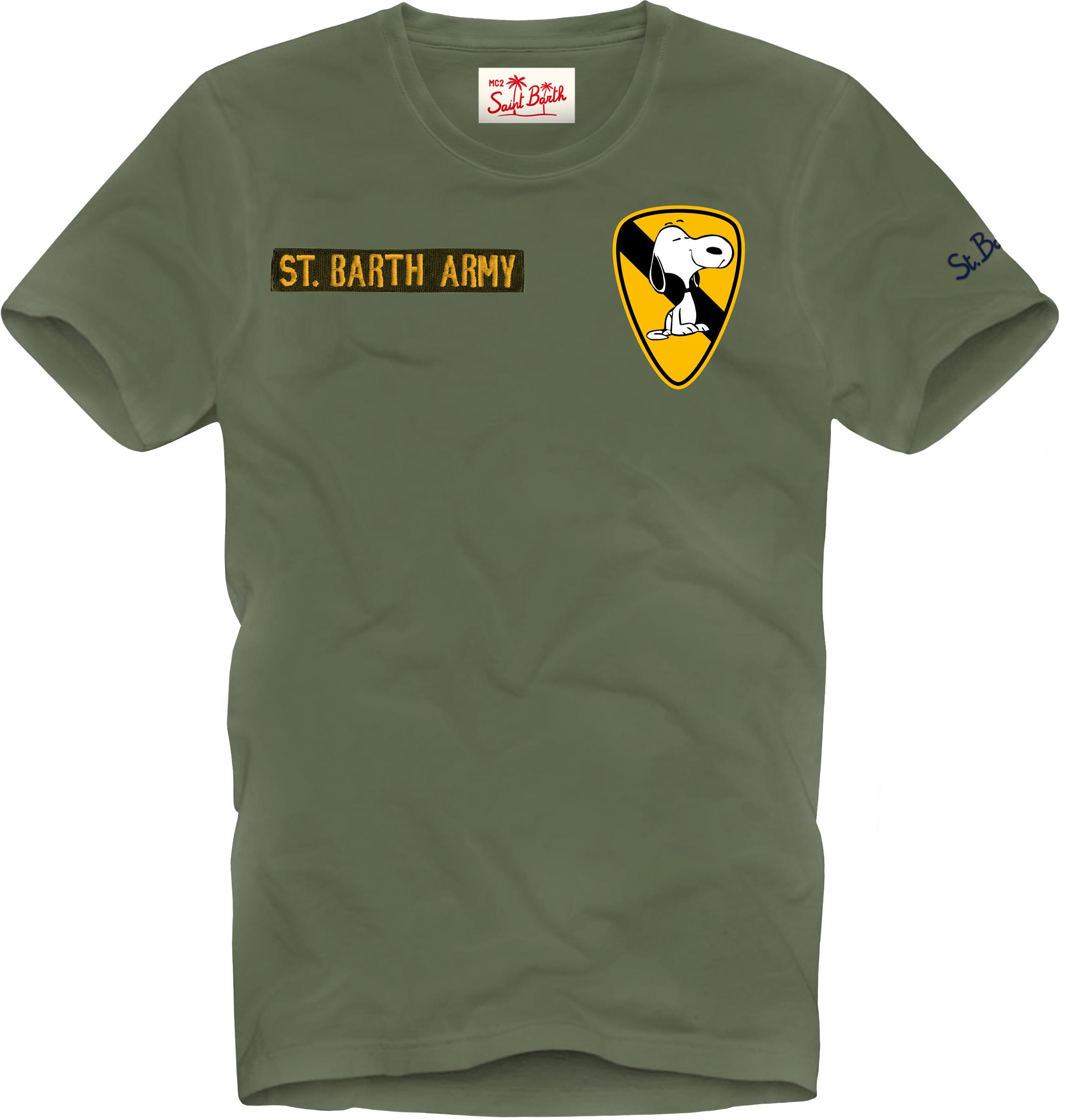 T-shirt MC2 Saint Barth con scritta ricamata MC2 SAINT BARTH   T-shirt   JACKPTSI52