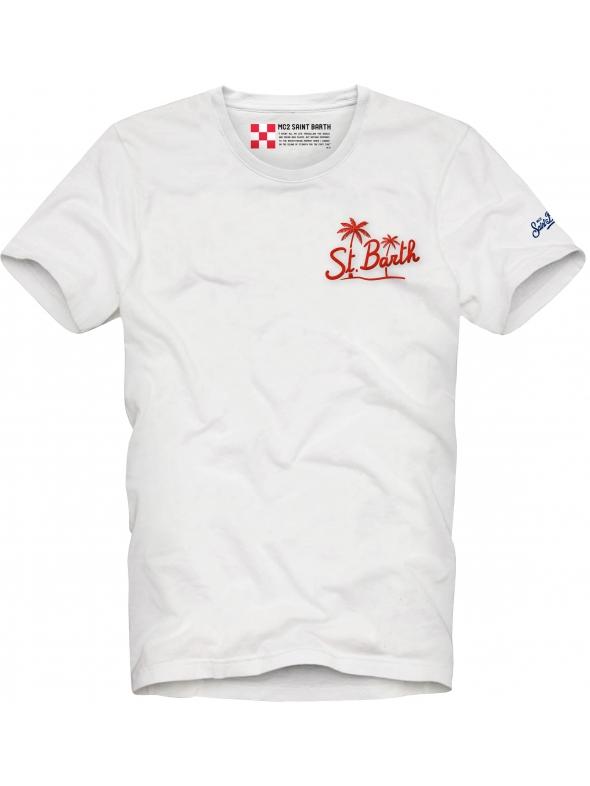 T-shirt MC2 Saint Barth con scritta stampata MC2 SAINT BARTH | T-shirt | TSHIRT MANEBPT1N