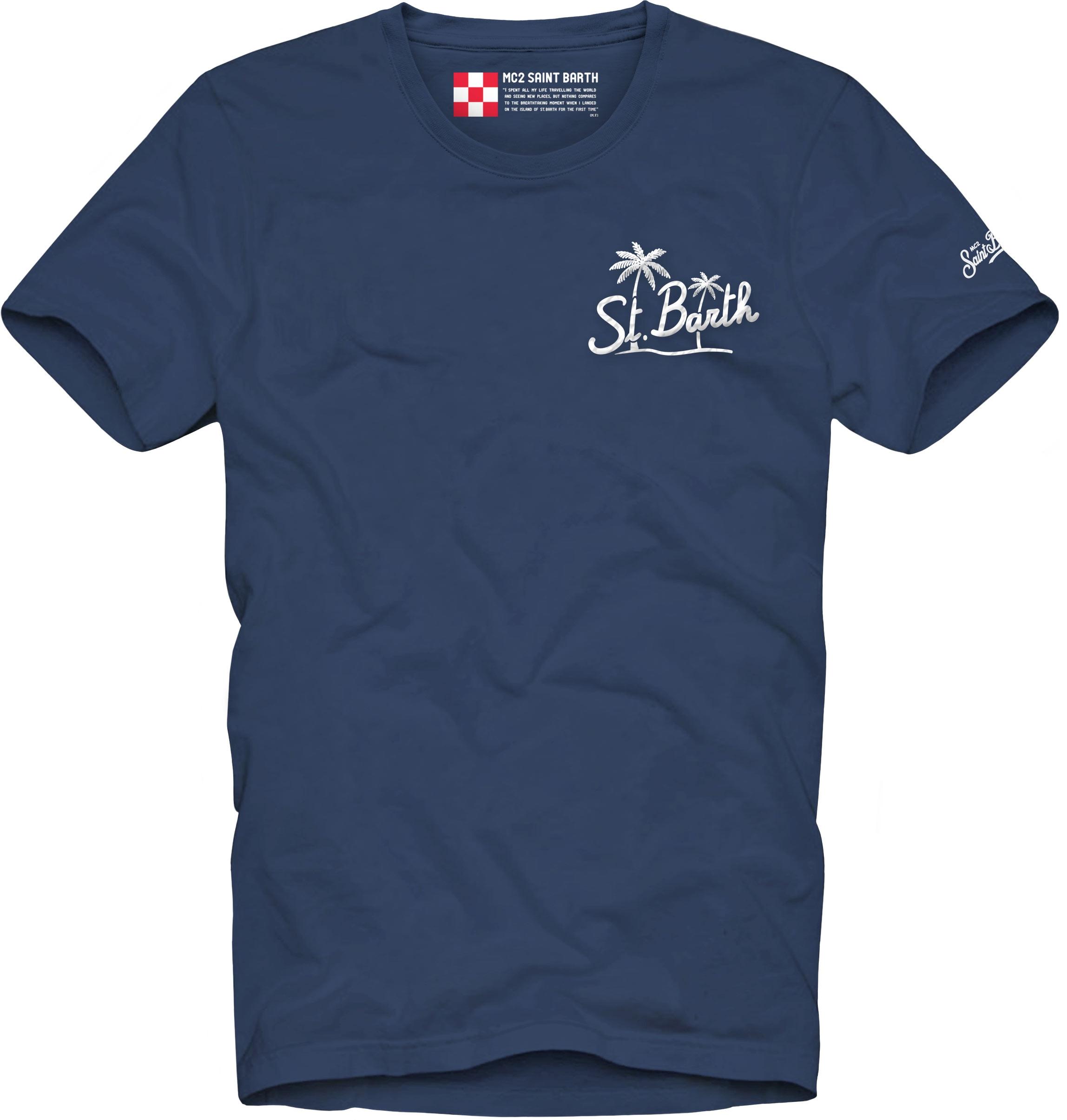 T-shirt MC2 Saint Barth con scritta stampata MC2 SAINT BARTH | T-shirt | TSHIRT MANEBPT61